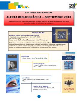 alerta bibliográfica - Municipalidad de Miraflores
