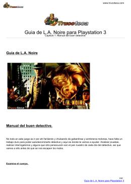 Guia de L.A. Noire para Playstation 3