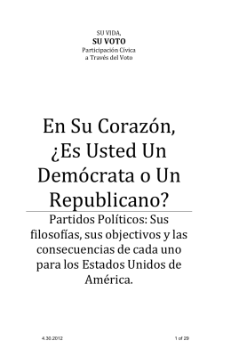 Democratas y Republicanos - California Federation of Republican