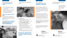 MIKE BROCHURE.spanish - American Kidney Fund