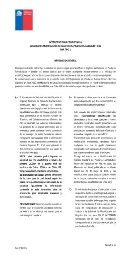 instructivo para completar la solicitud de modificación al registro de