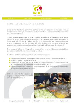 Gabinete de nutrición y dietética (descarga de folleto informativo)