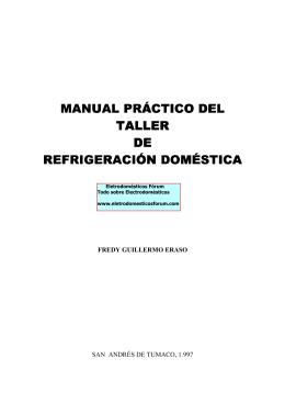 manual práctico del taller de refrigeración doméstica