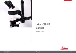 Leica IC80 HD Manual