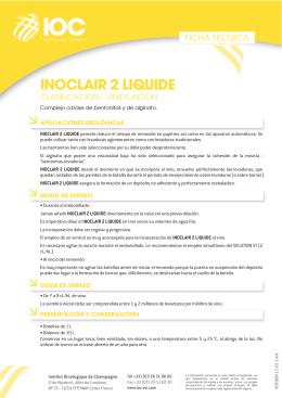 FT INOCLAIR 2 LIQUIDE (ES) - Institut Oenologique de Champagne