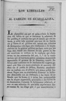 LOS LIBÉRALES ^ AL CABILDO DE GUADAL A JARA.