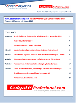 Marzo 2012 - Odontomarketing