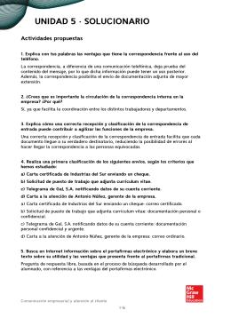 UNIDAD 5 · SOLUCIONARIO