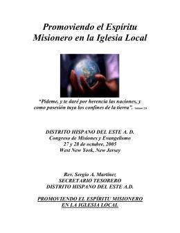 Promoviendo el Espíritu Misionero en la Iglesia Local
