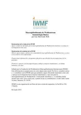 Macroglobulinemia de Waldenstrom Inmunología Básica