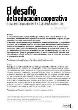 El Desafío de la Educación Cooperativa - COVICIFA
