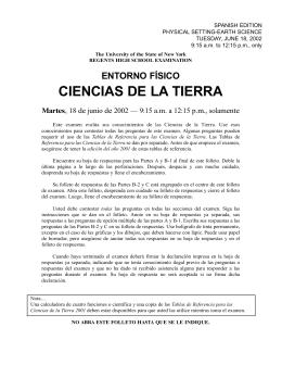 CIENCIAS DE LA T I E R R A