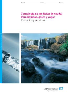 Tecnología de medición de caudal Para líquidos
