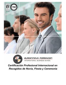 Certificación Profesional Internacional en Recogidos de Novia