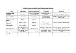 Planificación y reparto de las tareas
