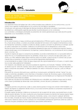 Introducción Marco teórico: FICHA DE TRABAJO – NIVEL INICIAL