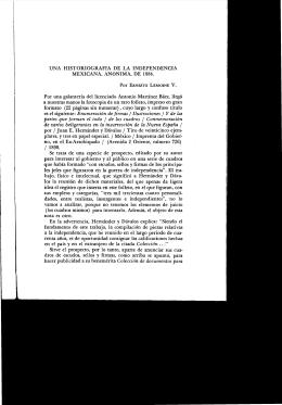 UNA HISTORIOGRAFíA DE LA INDEPENDENCIA MEXICANA
