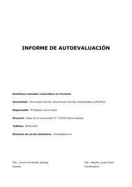 INFORME DE AUTOEVALUACIÓN