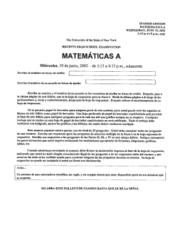 spanish edition mati—iematics a wednesday, june 19, 2002