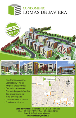 Folleto Condominio Lomas de Javiera - Subsidio DS. 116