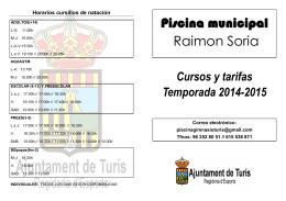 Piscina municipal Raimon Soria