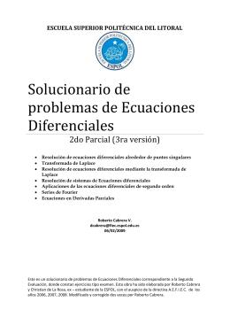 Solucionario de problemas de Ecuaciones Diferenciales