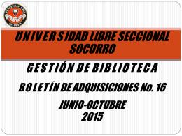 Abril-Mayo 2015 - Universidad Libre