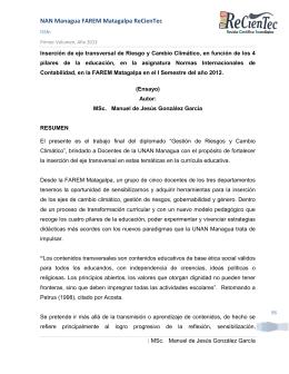 UNAN Managua FAREM Matagalpa – ReCienTec