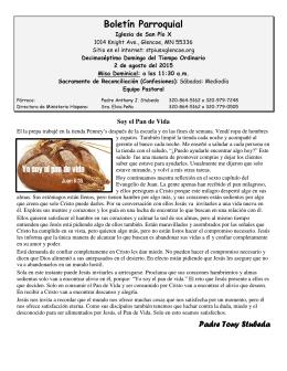 Boletín Parroquial