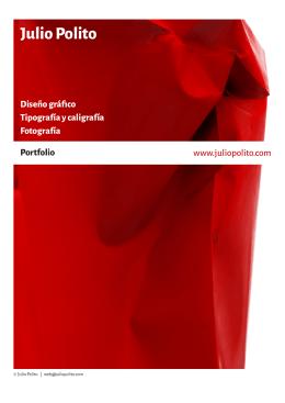 Portfolio - Diseño gráfico. Tipografía y caligrafía