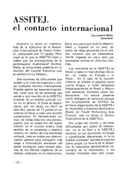 ASSITEJ. El contacto internacional