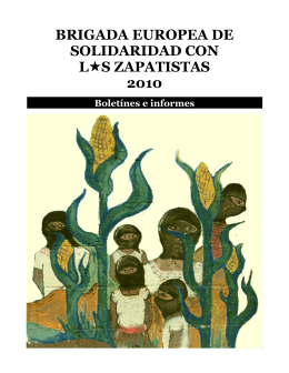 brigada europea de solidaridad con l  s - Enlace Zapatista