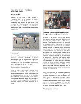 NEWSLETTER N° 10 // OCTUBRE 2012 FUNDACION PETISOS