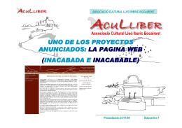 Resumen presentacion Web