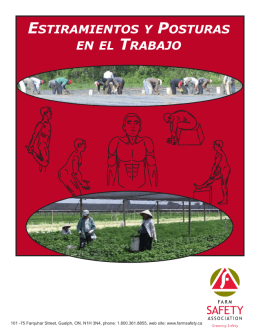 como estirarse - Farm Safety Association