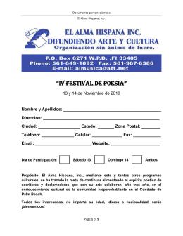 iv festival de poesia
