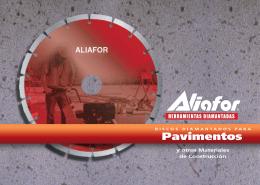 ALIAFOR Folleto Discos Hormigon y Pavimentos
