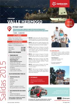 Salidas 2015 - Tentación Turismo