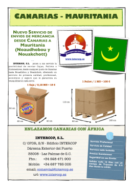 folleto CANARIAS vs MAURITANIA