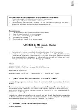 Acnemin 20 mg cápsulas blandas