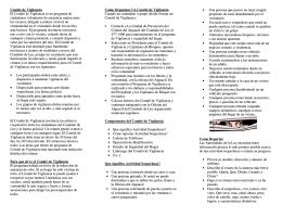 Comité de Vigilancia El Comité de Vigilancia es un programa de