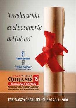 Oferta Educativa - CEPA Alonso Quijano Villarrobledo