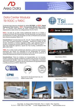 Folleto TSI RDDC y TMDC