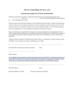 Acuerdo para pagar los servicios profesionales