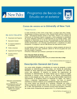 BECAS DE ESTUDIOS en University of New York, USA