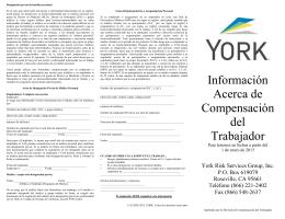 Información Acerca de Compensación del Trabajador