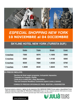 especial shopping new york 10 noviembre