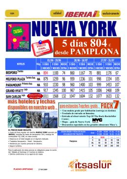 PNA- NUEVA YORK PRECIOS DE LOCURA jun