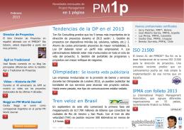 Tendencias de la DP en el 2013 Tren veloz en Brasil ISO 21500