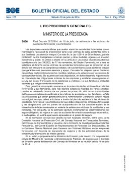 Real Decreto 627/2014, de 18 de julio